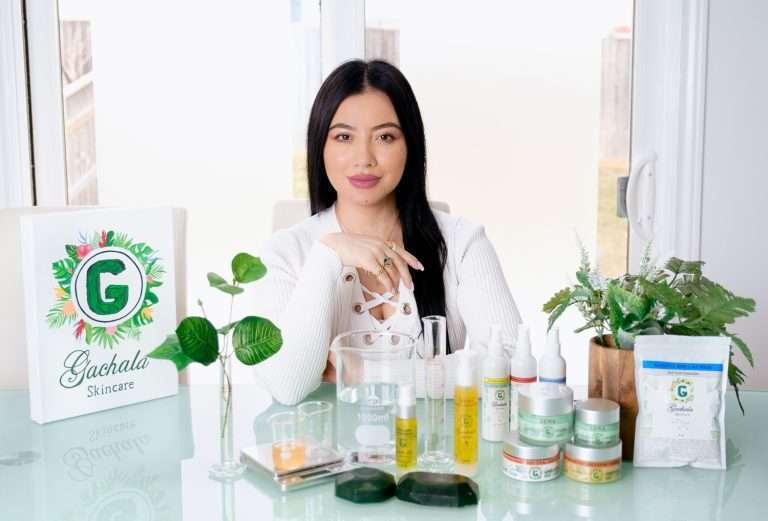 Karen Forero CEO of Gachala Skincare Inc.